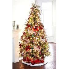 Celebrate It Pre Lit Jasper Cashmere Christmas Tree 75 Ft Decorated