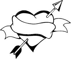 Big Heart Coloring Page For Kids Girls Pages