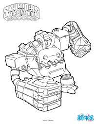Jawbreaker From Skylanders Trap Team Coloring Page More Sheets On Hellokids