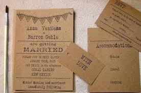 Simple Wedding Invitations Typewriter Font Vintage Rustic Inviation