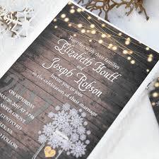 Rustic Winter Wood Snowflake Laser Cut Wedding Invitation Kits EWWS215