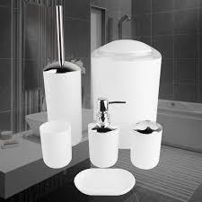 details zu 6tlg badezimmer set zubehör badgarnitur seifenspender wc bürste halter mülleimer