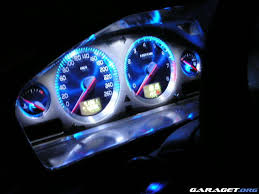 colored dash light replacement for gauges