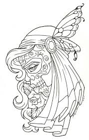Day Of The Dead Children Coloring Page