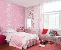 Pink Bedroom For Teenage Girls Purple Furry Rug Under Small Table On Wooden Floor