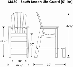 Beach Lifeguard Chair Plans by Amazon Com Polywood Sbl30pb South Beach Lifeguard Chair Pacific