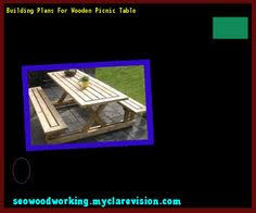 plans for picnic table with detached benches 171244 woodworking