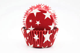 Red Star Cupcake Liner Standard Size