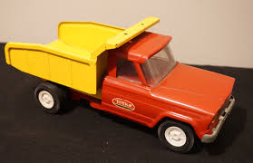 VINTAGE TONKA TOYS Pressed Steel Toy Dump Truck Red And Yellow Toy ...