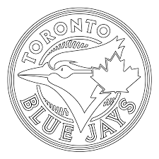 Toronto Blue Jays Logo Coloring Page Stencil Outline