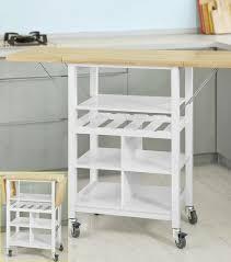 plan de travail escamotable cuisine meuble gain de place cuisine desserte de cuisine sur roulettes