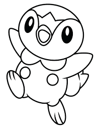 Full Image For Free Printable Mega Pokemon Coloring Pages Happy Piplup Legendary Page