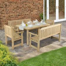 Magnificent Wooden Outdoor Table And Chairs Furniture ...