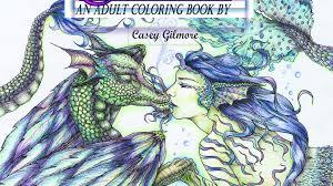 Fantasia A Fantasy Adult Coloring Story Mythology Book