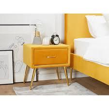 nachttisch glaser corrigan studio farbe gelb