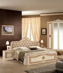schlafzimmer set lucia in creme beige barock design bett 180x200 cm