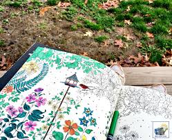 Coloring In The Park With My New Secret Garden Book By Johanna Basford