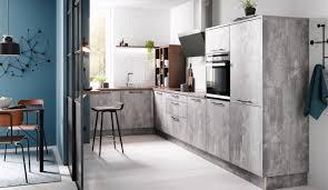 moderne einbauküche classica 1200 spachtelbeton perlgrau