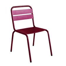 chaise bordeaux chaise de jardin design visalia colorée par drawer fr