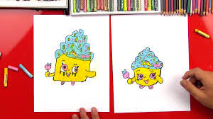 how to draw a shopkin cupcake queen feature2