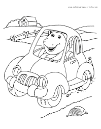 Barney More Free Printable Cartoon Character Coloring Pages