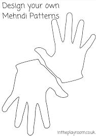 Pin Drawn Handprint Printable 1