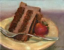 Chocolate Mousse Cake 8 Oil painting by artist Hall Groat II