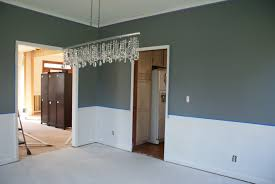 two tone walls with chair rail home new decoration beautiful