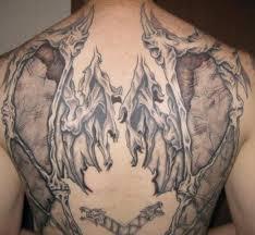 Shredded Skeletal Wing Tattoo