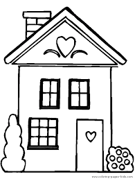 Incredible House Coloring Page Houses And Homes Color Free Printable Sheets For Kids