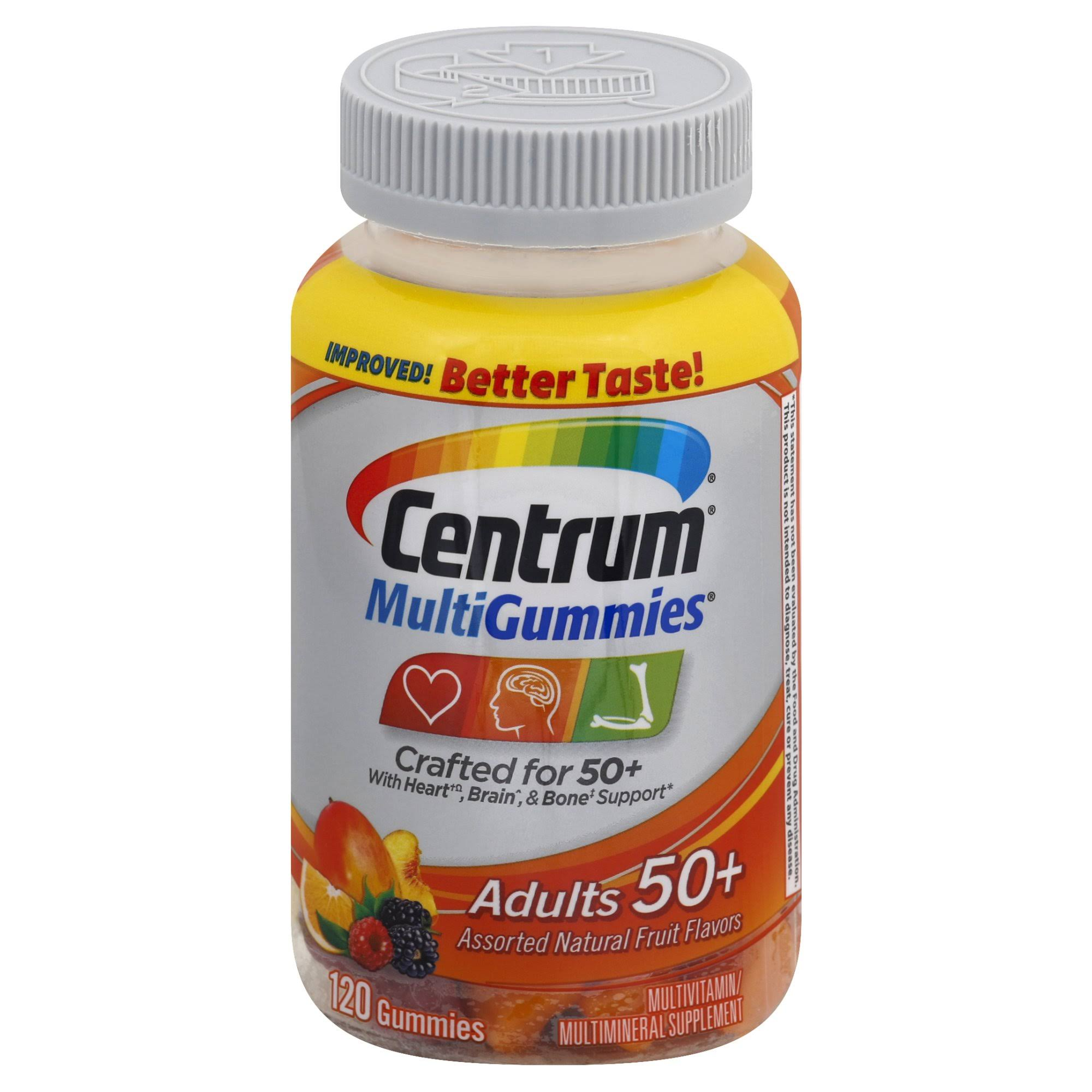 Centrum MultiGummies Multivitamin/Multimineral, Adults 50+, Gummies - 120 gummies