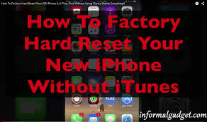 How To Erase iPhone 6 Plus Without Using iTunes Factory Hard
