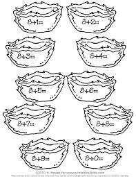 Birds Nest Addition Worksheet