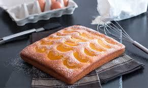 einfacher fluffiger pfirsich kuchen