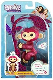 WowWee Fingerlings Glitter Monkey Razz Raspberry Interactive Baby Pet Toy