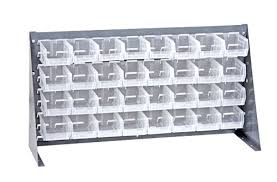 Louvered Bench Rack Plastic Bin Package QBR 3619 210 32CL