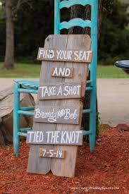 SEATING Sign Find Your Seat And Take A Shot Tied The Knot Wedding Seating Plan Chart Rustic Signage Country Reception