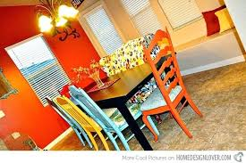 Remake Chairs Eclectic Dining Room Table And