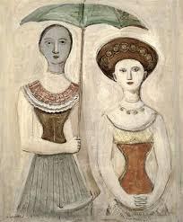 Massimo Campigli Italian Donne Sotto LOmbrellino Women Under The Umbrella