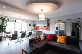 cuisine avec grand ilot central projet cuisine salon éaire avec grand îlot central contemporain
