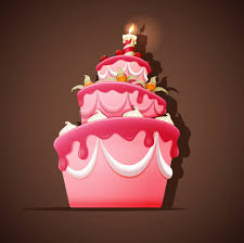 cute birthday cakes free vector background