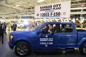 Ford Begins F-150 Production At Claycomo | The Kansas City Star Is That A Robot In The Drivers Seat At Fords F150 Plant Ford Begins Production Of Kansas City Assembly Plant Kentucky Truck Motor1com Photos Increases Investment On High Demand Dearborn Pictures Will Temporarily Shut Down Four Plants Including A Classic 1953 F350 Pickup Truck With Twin Cities From Scratch 2012 Lariat 4x4 Ecoboost Trend Schedules Downtime 2 Michigan Assembly Plants Amid Slowing Tour And Images Getty Begins Production Claycomo The Star Next Level Stormwater Management Facts About