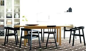 Tropical Inspired Dining Area With Rug Stockholm Ikea Look Alike