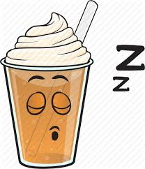 Cartoon Coffee Cup Emoji Iced Plastic Icon