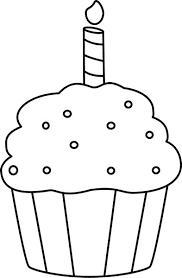 Birthday Outline Cliparts