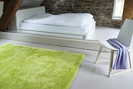 moderner teppich seasons grün 140x200 cm flauschig weicher hochflor teppich in aktuellen trendfarben