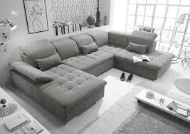 funktionale wayne sofa schlafcouch bettsofa schlafsofa sofabett wohnlandschaft ausziehbar schlamm grau ottomane rechts u form