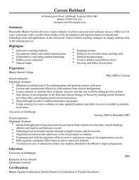 Master Teacher CV Template