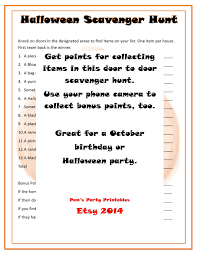 Printable Halloween Scavenger Hunt Clues by Halloween Door To Door Scavenger Hunt Printable Instant