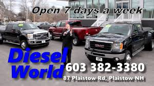 Diesel World Truck Sales -- About Us -- Why Buy New? - YouTube Duramax Lb7 66l 2001 2002 2003 2004 Diesel Performance Products Chevy Dealer Nh Gmc Banks Autos Concord Eastern Surplus Used Cars For Sale Derry 038 Auto Mart Quality Trucks Truck Tims Capital Salem 03079 Mastriano Motors Llc Ford In New Hampshire For On Buyllsearch Buy Here Pay 2017 Super Duty Londerry Manchester Grappone A Plus Sales Specializing In Late Model Chevrolet